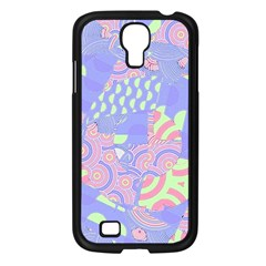 Girls Bright Pastel Abstract Blue Pink Green Samsung Galaxy S4 I9500/ I9505 Case (black) by CrypticFragmentsColors