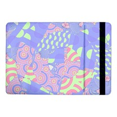 Girls Bright Pastel Abstract Blue Pink Green Samsung Galaxy Tab Pro 10 1  Flip Case by CrypticFragmentsColors