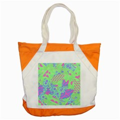 Tropical Neon Green Purple Blue Accent Tote Bag by CrypticFragmentsColors