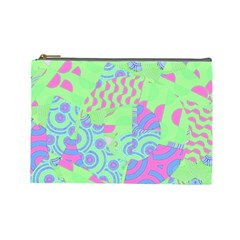 Tropical Neon Green Purple Blue Cosmetic Bag (large)
