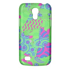 Tropical Neon Green Purple Blue Samsung Galaxy S4 Mini (gt I9190) Hardshell Case  by CrypticFragmentsColors