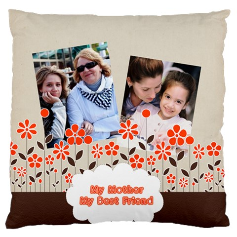 Mothers Day By Mom   Large Flano Cushion Case (one Side)   Fyd1u90wpds0   Www Artscow Com Front