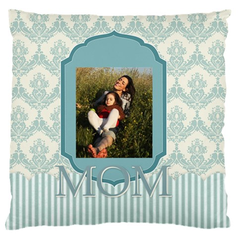 Mothers Day By Mom   Large Flano Cushion Case (one Side)   9sgnkubzmk2a   Www Artscow Com Front