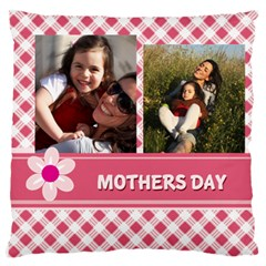 Mothers Day By Mom   Large Flano Cushion Case (two Sides)   92fffusdd2v0   Www Artscow Com Front