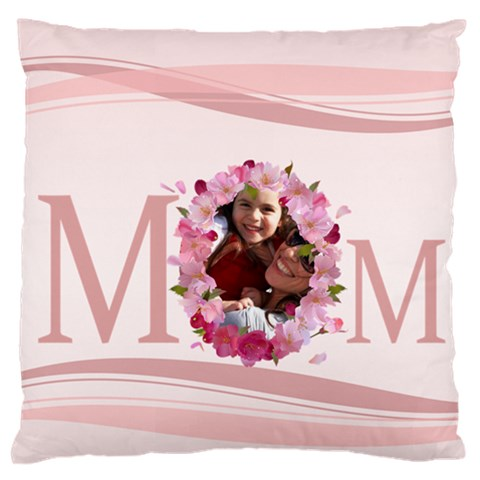 Mothers Day By Mom   Large Flano Cushion Case (one Side)   2hlhxxxb99zi   Www Artscow Com Front