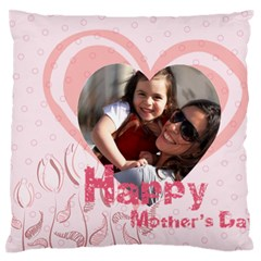 Mothers Day By Mom   Large Flano Cushion Case (two Sides)   2qc3u47wo8gj   Www Artscow Com Front