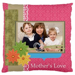 Mothers Day By Mom   Large Flano Cushion Case (two Sides)   Y3w8taa04s8d   Www Artscow Com Front