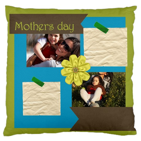 Mothers Day By Mom   Large Flano Cushion Case (one Side)   42gwk1k4dd2k   Www Artscow Com Front