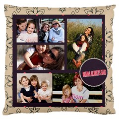 Mothers Day By Mom   Large Flano Cushion Case (two Sides)   Qp9t23z8ognc   Www Artscow Com Back