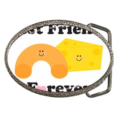 Mac & Cheese Bffs Belt Buckle (oval) by codepinkink