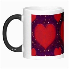 Galaxy Hearts Grunge Style Pattern Morph Mug by dflcprints