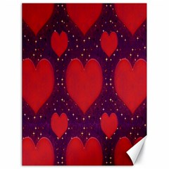 Galaxy Hearts Grunge Style Pattern Canvas 18  X 24  (unframed) by dflcprints