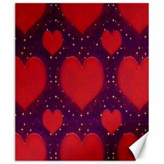 Galaxy Hearts Grunge Style Pattern Canvas 20  X 24  (unframed) by dflcprints