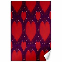 Galaxy Hearts Grunge Style Pattern Canvas 20  X 30  (unframed) by dflcprints