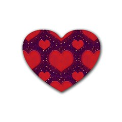 Galaxy Hearts Grunge Style Pattern Drink Coasters 4 Pack (heart)  by dflcprints