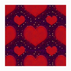 Galaxy Hearts Grunge Style Pattern Glasses Cloth (medium, Two Sided) by dflcprints