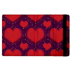 Galaxy Hearts Grunge Style Pattern Apple Ipad 3/4 Flip Case by dflcprints