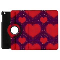 Galaxy Hearts Grunge Style Pattern Apple Ipad Mini Flip 360 Case by dflcprints