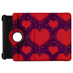 Galaxy Hearts Grunge Style Pattern Kindle Fire Hd Flip 360 Case by dflcprints
