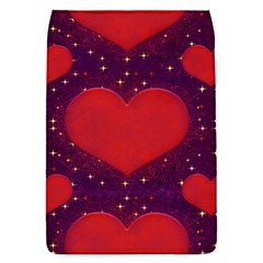 Galaxy Hearts Grunge Style Pattern Removable Flap Cover (small) by dflcprints