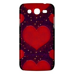 Galaxy Hearts Grunge Style Pattern Samsung Galaxy Mega 5 8 I9152 Hardshell Case  by dflcprints