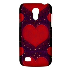 Galaxy Hearts Grunge Style Pattern Samsung Galaxy S4 Mini (gt I9190) Hardshell Case  by dflcprints