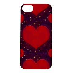 Galaxy Hearts Grunge Style Pattern Apple Iphone 5s Hardshell Case by dflcprints