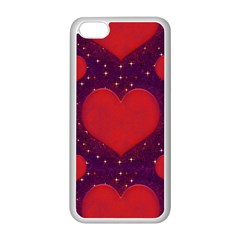 Galaxy Hearts Grunge Style Pattern Apple Iphone 5c Seamless Case (white) by dflcprints
