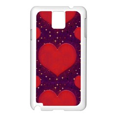 Galaxy Hearts Grunge Style Pattern Samsung Galaxy Note 3 N9005 Case (white) by dflcprints
