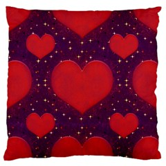 Galaxy Hearts Grunge Style Pattern Standard Flano Cushion Case (one Side) by dflcprints