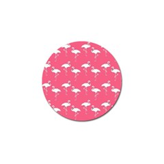 Flamingo White On Pink Pattern Golf Ball Marker 10 Pack by CrypticFragmentsColors