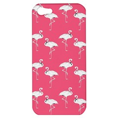 Flamingo White On Pink Pattern Apple Iphone 5 Hardshell Case by CrypticFragmentsColors