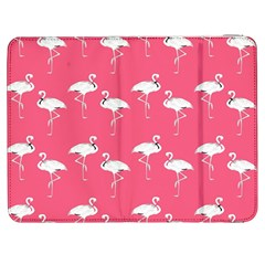 Flamingo White On Pink Pattern Samsung Galaxy Tab 7  P1000 Flip Case by CrypticFragmentsColors