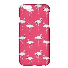 Flamingo White On Pink Pattern Apple Iphone 6 Plus Hardshell Case by CrypticFragmentsColors