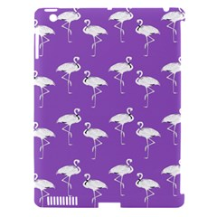 Flamingo White On Lavender Pattern Apple Ipad 3/4 Hardshell Case (compatible With Smart Cover) by CrypticFragmentsColors