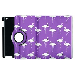 Flamingo White On Lavender Pattern Apple Ipad 3/4 Flip 360 Case by CrypticFragmentsColors