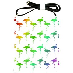 Flamingo Pattern Rainbow  Shoulder Sling Bag by CrypticFragmentsColors