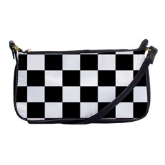 Checkered Flag Race Winner Mosaic Tile Pattern Evening Bag by CrypticFragmentsColors