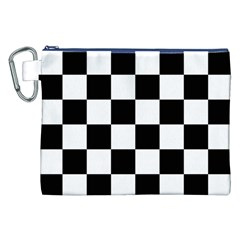 Checkered Flag Race Winner Mosaic Tile Pattern Canvas Cosmetic Bag (xxl) by CrypticFragmentsColors