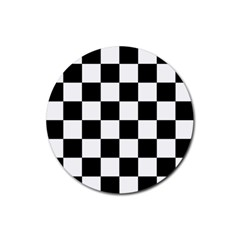Checkered Flag Race Winner Mosaic Tile Pattern Drink Coasters 4 Pack (round) by CrypticFragmentsColors