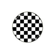 Checkered Flag Race Winner Mosaic Tile Pattern Golf Ball Marker 4 Pack (for Hat Clip) by CrypticFragmentsColors