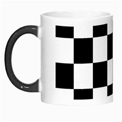 Checkered Flag Race Winner Mosaic Tile Pattern Morph Mug by CrypticFragmentsColors