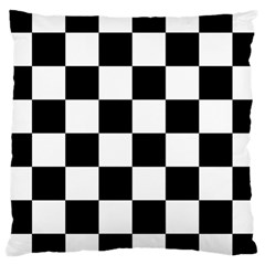 Checkered Flag Race Winner Mosaic Tile Pattern Large Cushion Case (two Sided)  by CrypticFragmentsColors