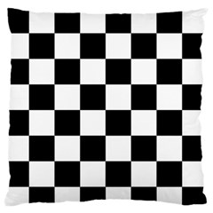 Checkered Flag Race Winner Mosaic Tile Pattern Large Flano Cushion Case (two Sides) by CrypticFragmentsColors