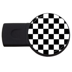 Checkered Flag Race Winner Mosaic Tile Pattern 4gb Usb Flash Drive (round)