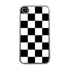 Checkered Flag Race Winner Mosaic Tile Pattern Apple Iphone 4 Case (clear) by CrypticFragmentsColors