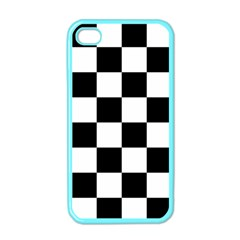 Checkered Flag Race Winner Mosaic Tile Pattern Apple Iphone 4 Case (color) by CrypticFragmentsColors
