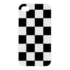 Checkered Flag Race Winner Mosaic Tile Pattern Apple Iphone 4/4s Premium Hardshell Case by CrypticFragmentsColors