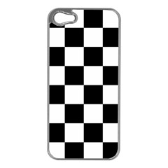 Checkered Flag Race Winner Mosaic Tile Pattern Apple Iphone 5 Case (silver) by CrypticFragmentsColors