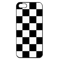 Checkered Flag Race Winner Mosaic Tile Pattern Apple Iphone 5 Seamless Case (black) by CrypticFragmentsColors